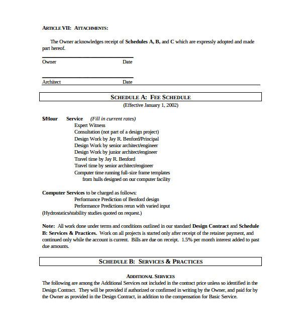 interior design contract template