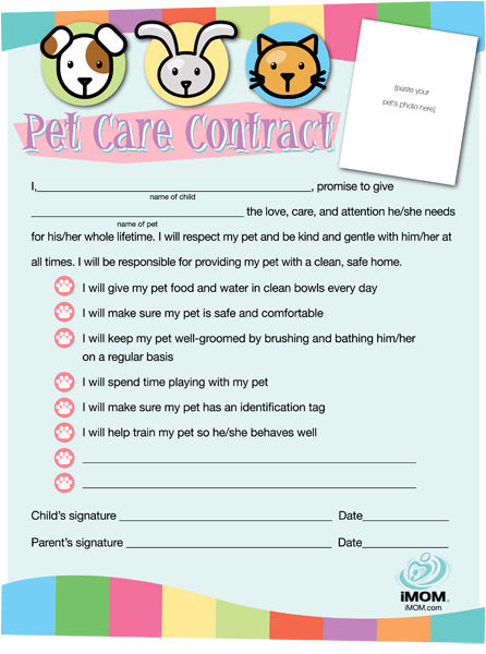 pet care contract