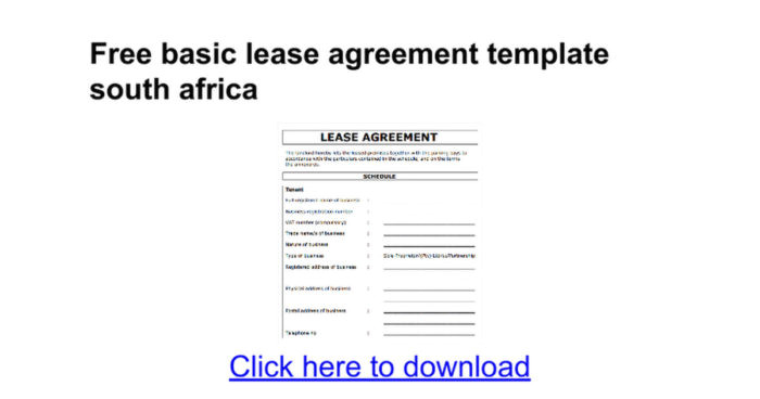 commercial property lease agreement south africa