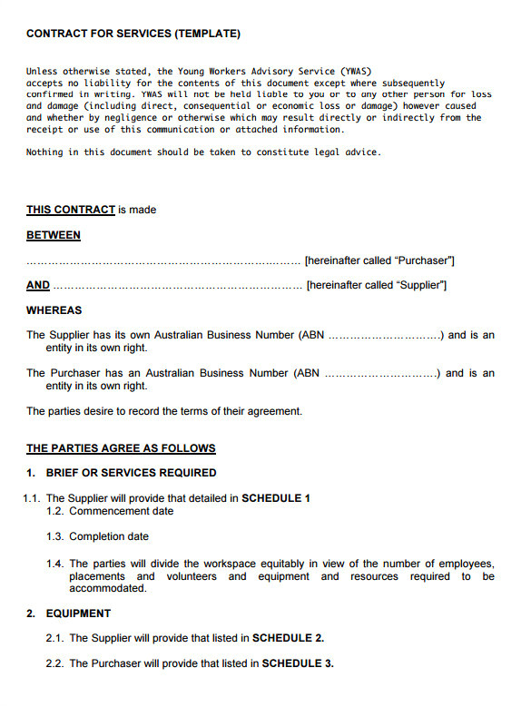 Contract to Provide Services Template 16 Service Contract Templates Word Pages Google Docs