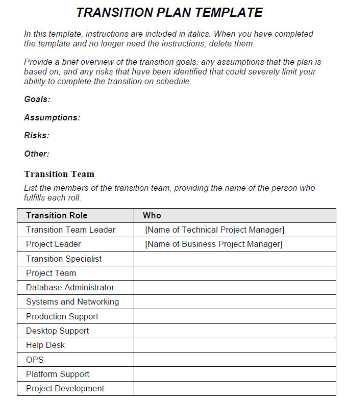 Contract Transition Plan Template Blog Archives Arcaneconjuror