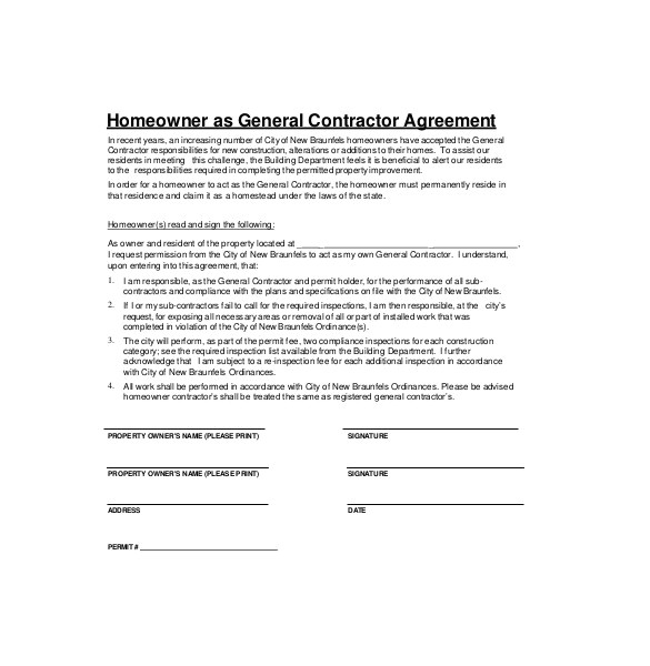 Contracting Contract Template Contractor Agreement Template 23 Free Word Pdf Apple