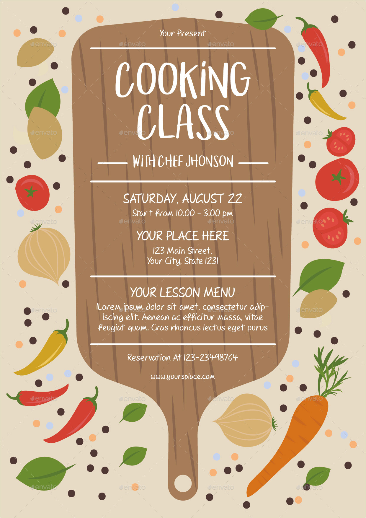 Cooking Class Flyer Template Free Cooking Class Flyer Template by Lyllopop Graphicriver