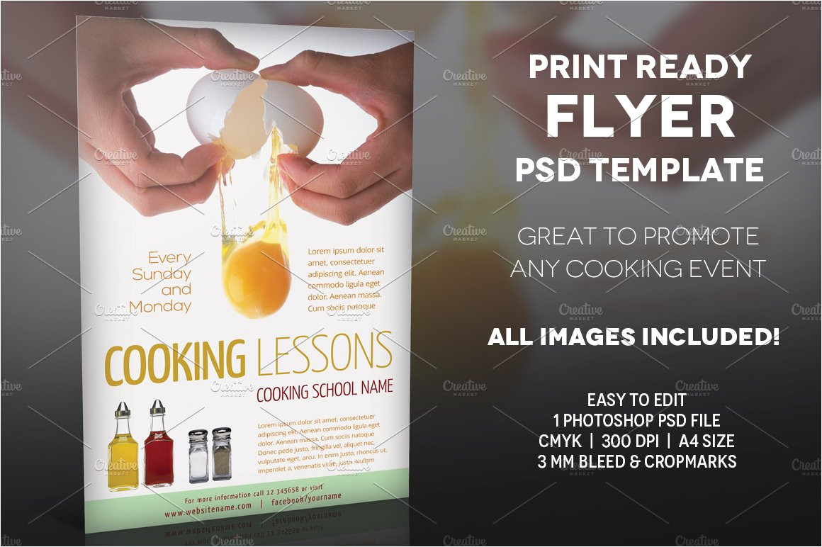 195845 cooking lessons 2 a4 flyer template