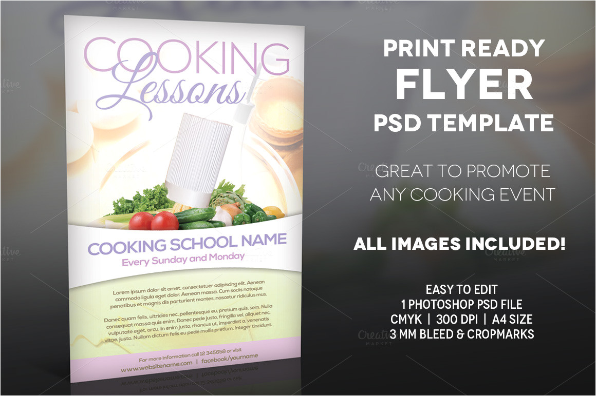 195672 cooking lessons a4 flyer template