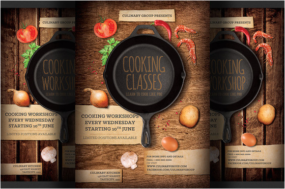 free template flyer design cooking class