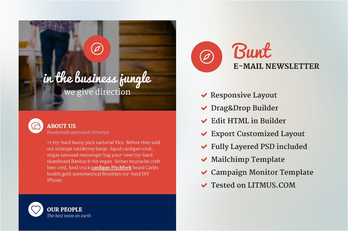 554423 bunt corporate email template