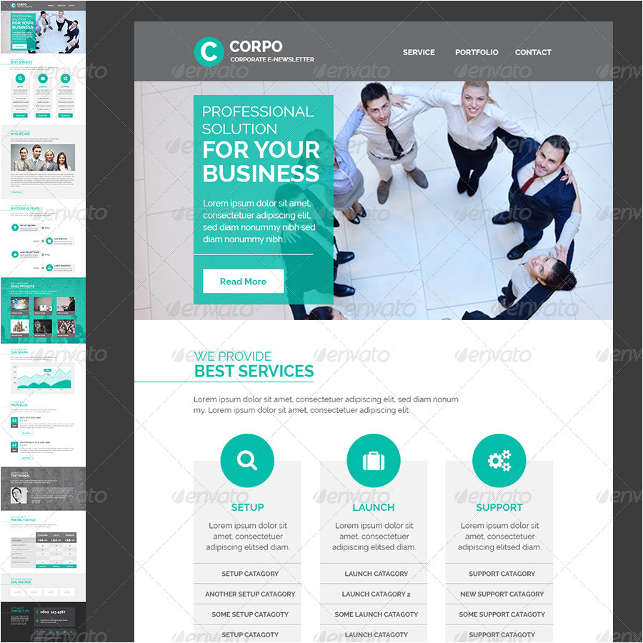 Corporate Email Template Design Corporate E Newsletter Template by Kalanidhithemes