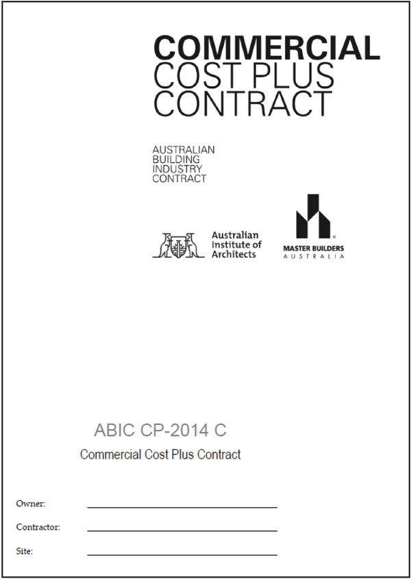 Cost Plus Building Contract Template Products Archive Page 5 Of 6 Master Builders Wamaster