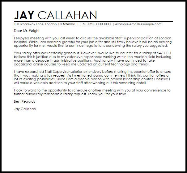 counter offer job letter