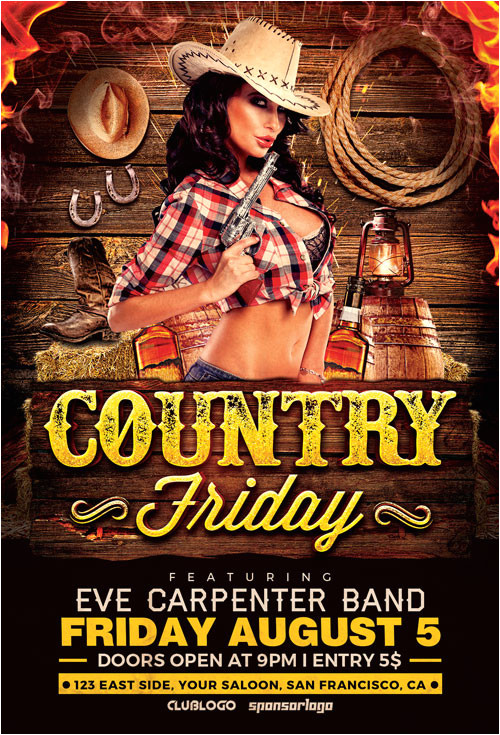 country night 1 flyer template