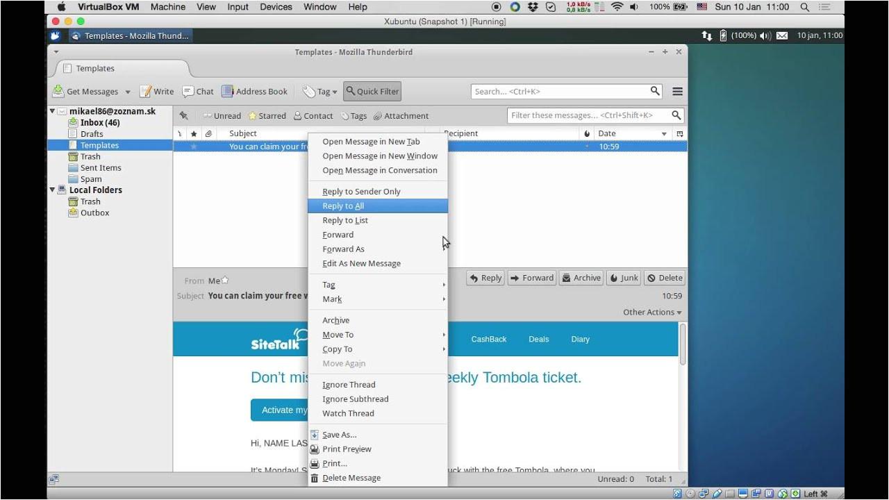 Create Email Template Thunderbird Creating An Email Template In Thunderbird without