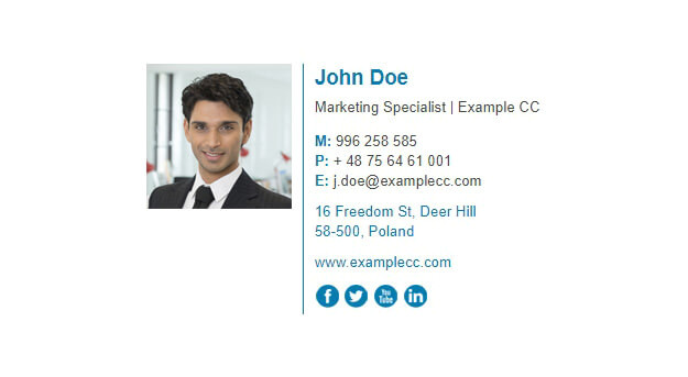 free html email signature template