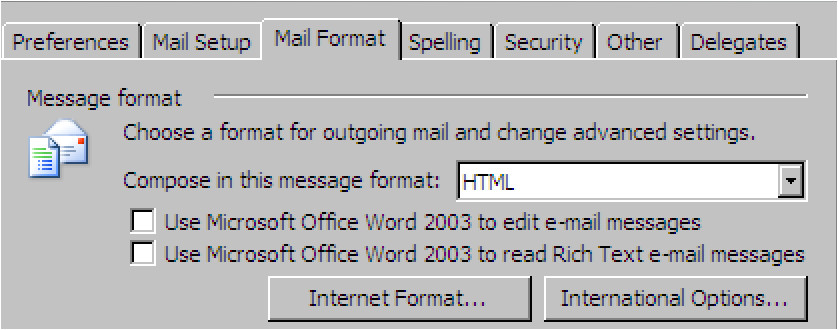 create an email template in outlook 2003