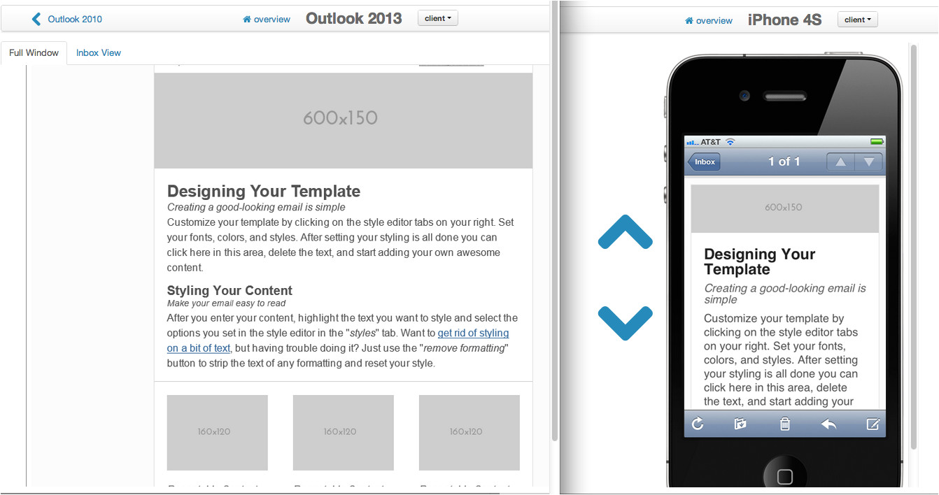 six new responsive email templates improvements