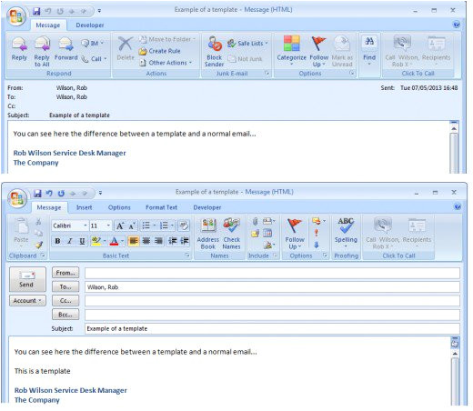 creating and using templates in outlook 2007 and outlook 2010 to save time