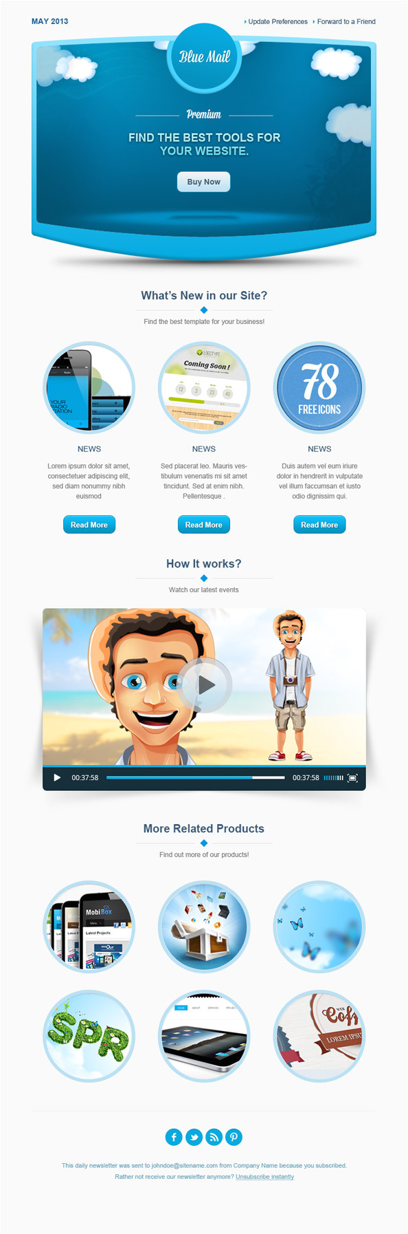 Creative Email Newsletter Templates Creative Email Template Free Mail Templates