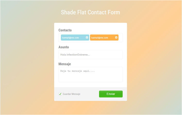 html css contact forms