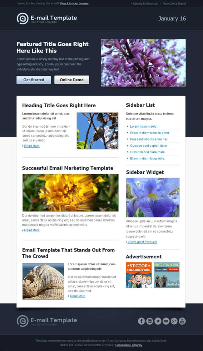 free business email templates