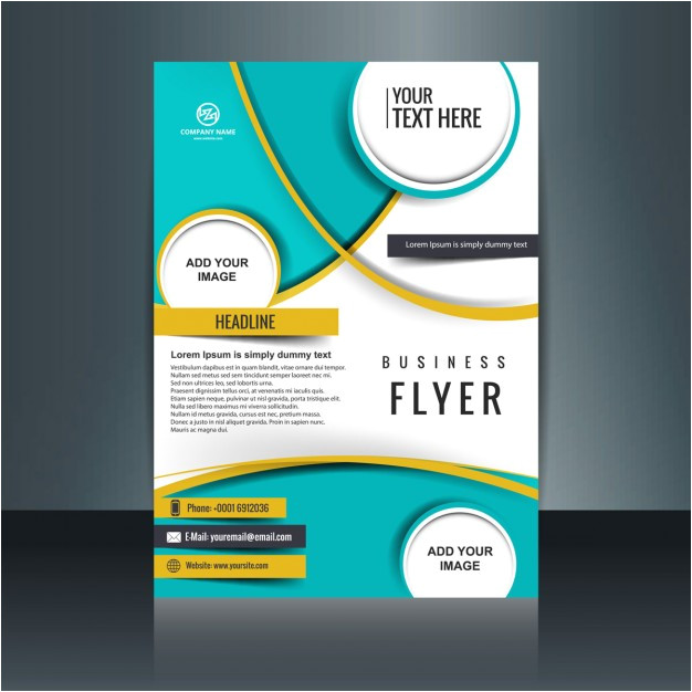 business flyer template with circular shapes 852837