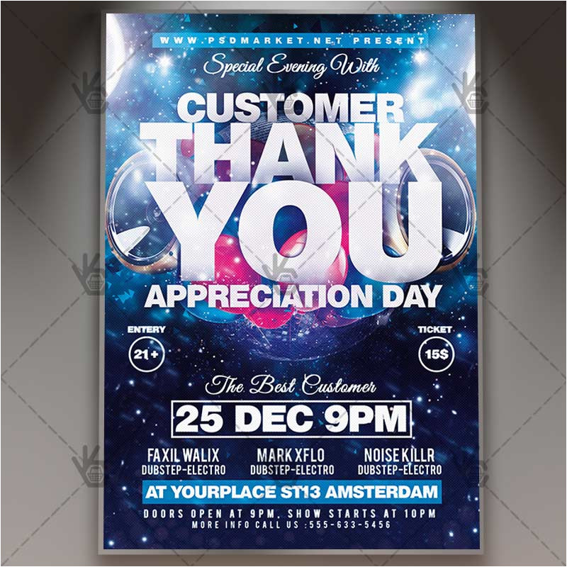 appreciation day business flyer psd template