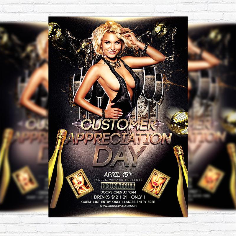 customer appreciation day premium flyer template facebook cover