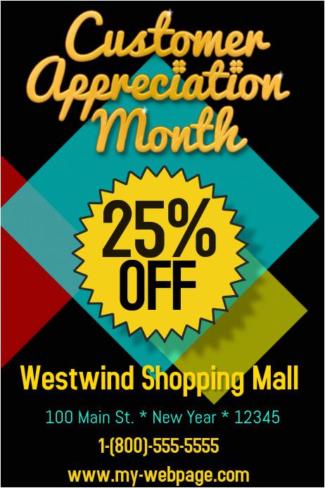 customer appreciation flyer template