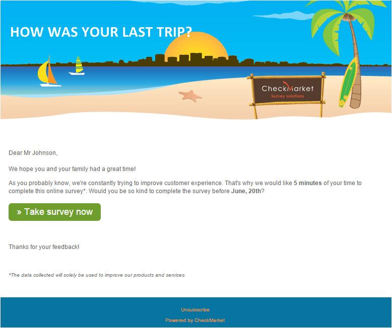 survey email invitation