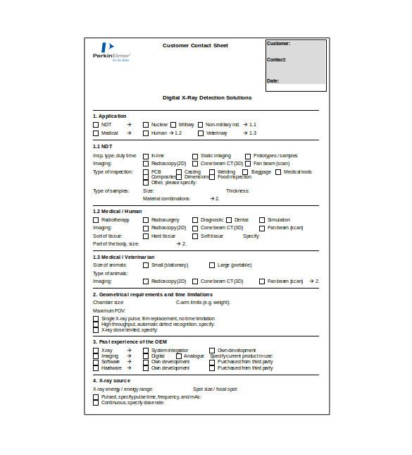 proof sheet template
