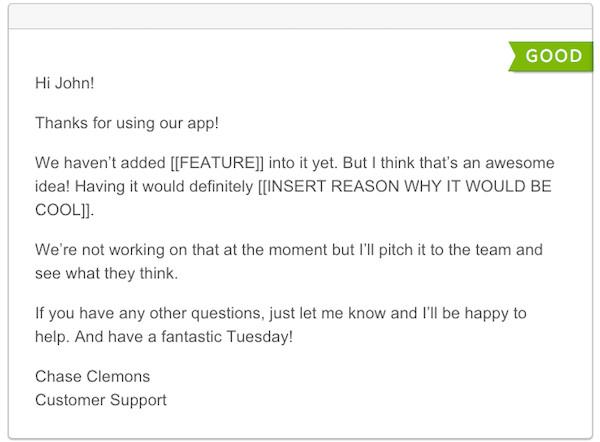 amazing customer support no longer nice