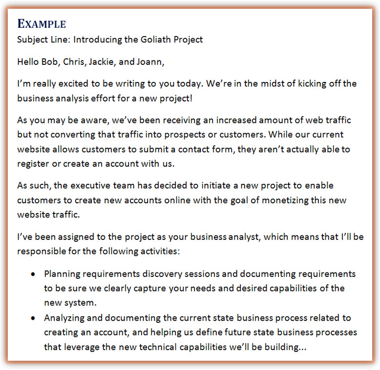 business analyst email toolkit