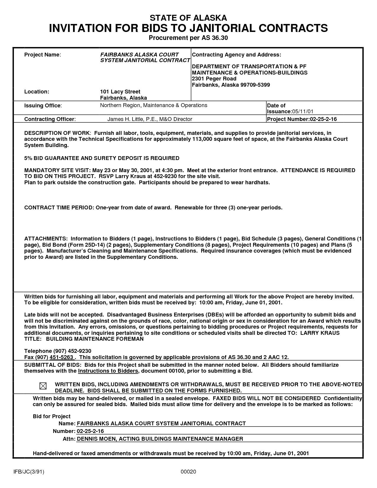 dcaa contract brief example