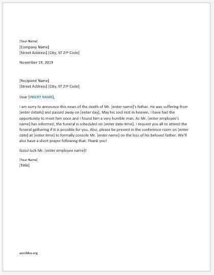 announcement letters