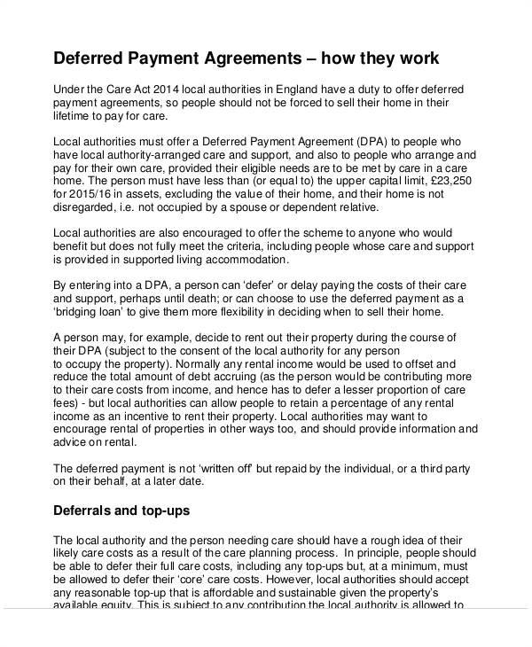 printable agreement