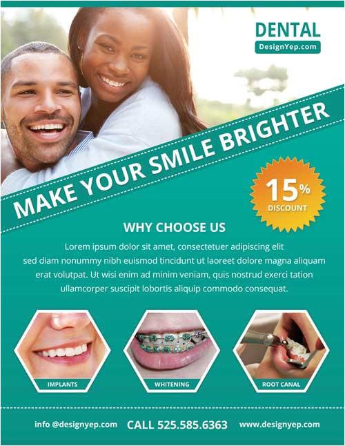 Dental Flyer Templates Free Download Free Dental Care Psd Flyer Template