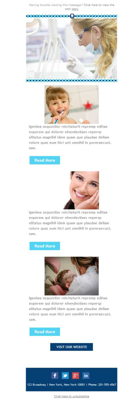 Dentist Email Templates Dentist Marketing Email Marketing Template Mailify
