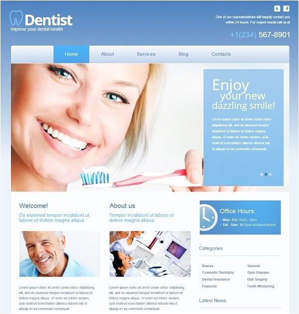 top dental website templates