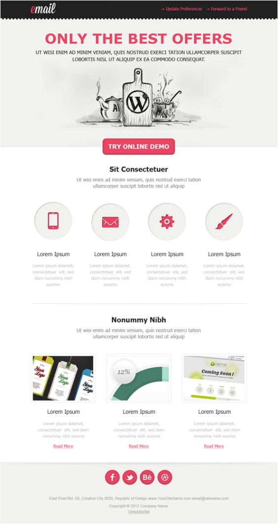 900 free responsive email templates to help you start with email design