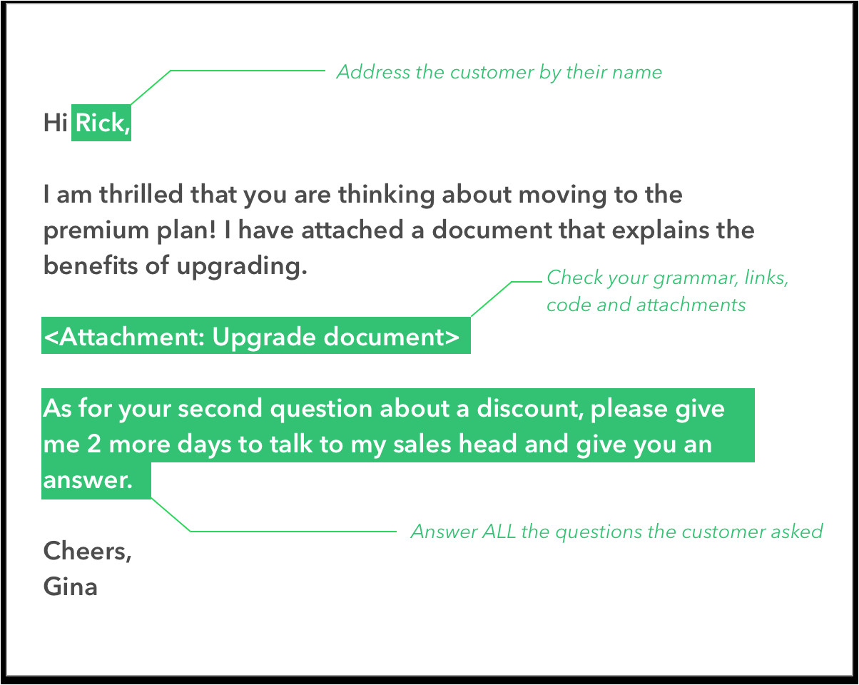 tips to write a good support email with email templates blog