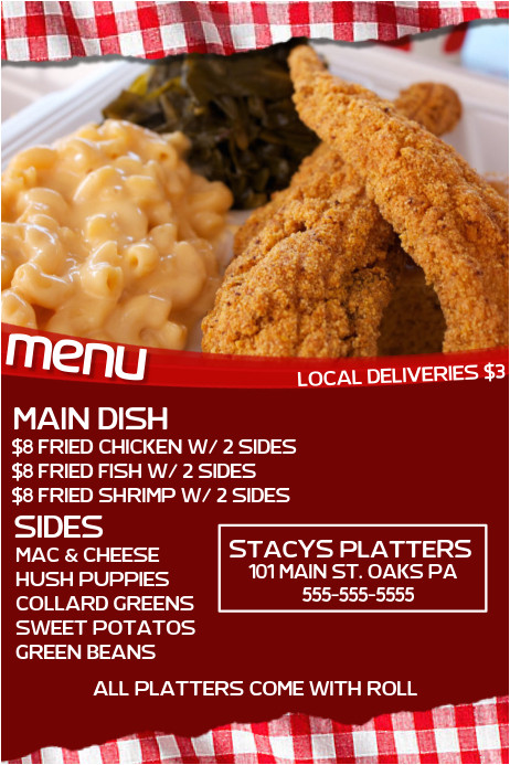 soul food flyer template