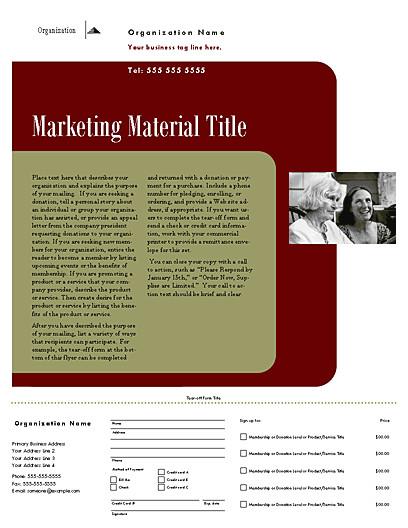 direct mail set flyer herald design for desktop printing 105