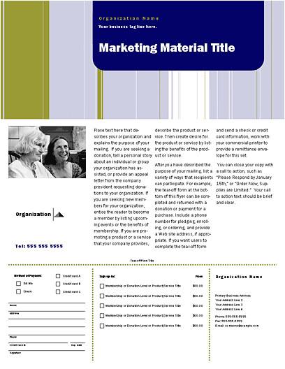 Direct Mail Flyer Template Download Direct Mail Set Flyer Stripes Design for