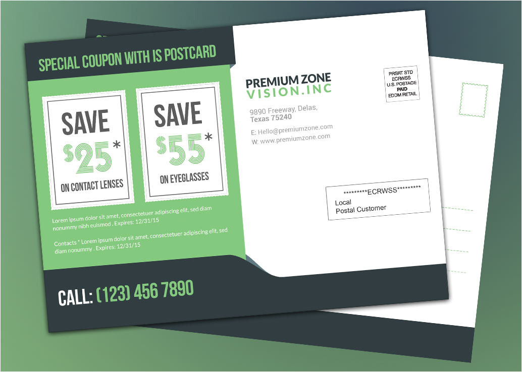 every door direct mail for eye vision product marketing