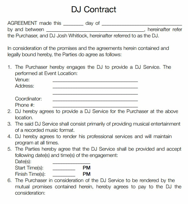 disc jockey contracts template 15 ways on how to prepare for disc jockey contracts template 31609