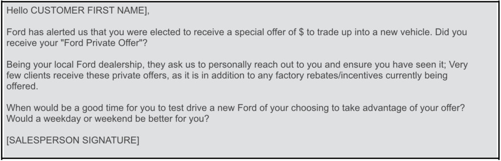ford private offer