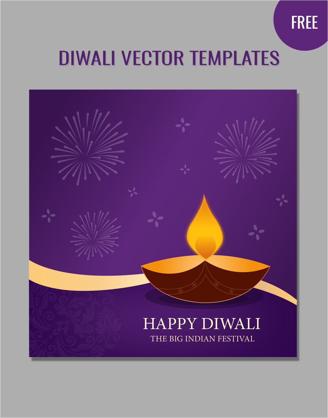diwali vector templates