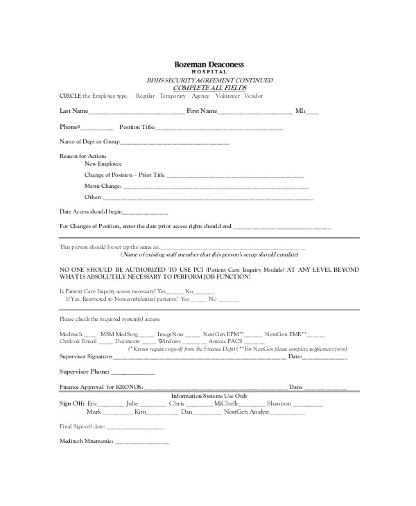 Doctor Patient Contract Template 10 Patient Confidentiality Agreement Templates Free