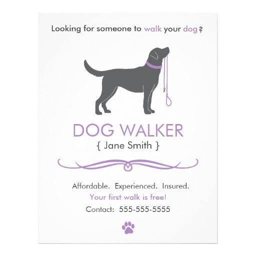 dog walker walking business flyer template 244245006411254891
