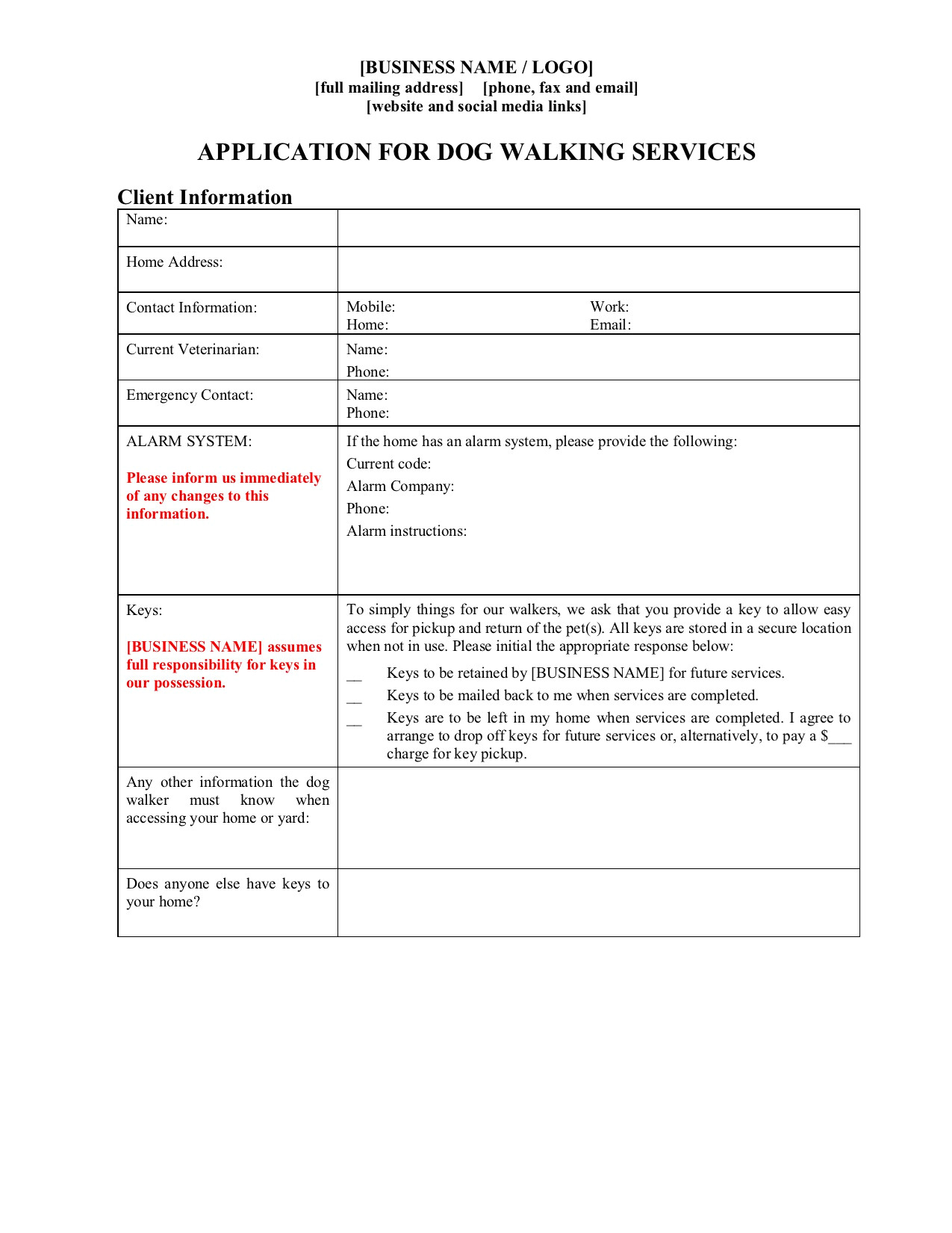 Dog Walking Contract Template Dog Walker Contract forms Package Legal forms and