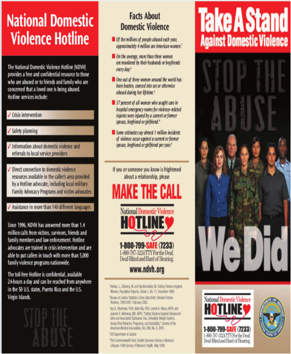 Domestic Violence Flyer Templates 10 Domestic Violence Brochures Word Psd Vector Free
